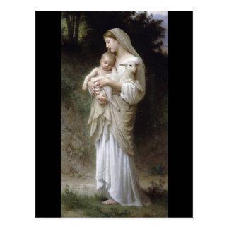 Bouguereau Innocence Lady Child Lamb Postcards