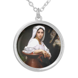 Bouguereau Italian Girl Drawing Water Necklace