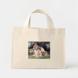 Bouguereau - Jeune Femme Contemplant Deux Enfants Bag