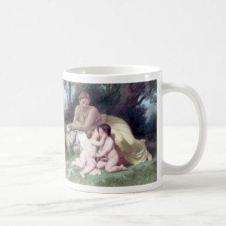 Bouguereau - Jeune Femme Contemplant Deux Enfants Coffee Mug