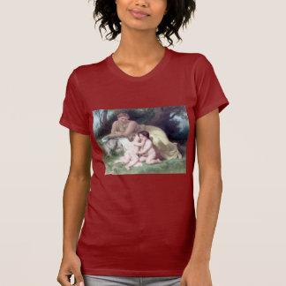 Bouguereau - Jeune Femme Contemplant Deux Enfants T Shirt