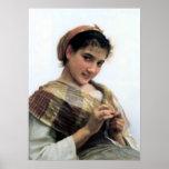 Bouguereau - Jeune Fille au Crochet Posters