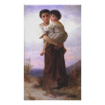 Bouguereau - Jeune Fille Tenant un Enfant Poster
