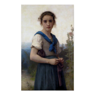 Bouguereau - La Petite Tricoteuse Poster
