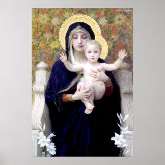 Bouguereau - La Vierge au Lys Print
