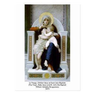 Bouguereau - La Vierge, L'Enfant Jésus et Saint Je Postcard