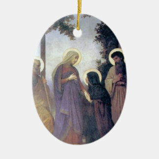 Bouguereau - La Visitation Ceramic Oval Decoration
