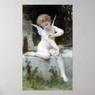 Bouguereau - L'Amour au Papillon Poster