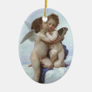 Bouguereau - L'Amour et Psyché, Enfants Ceramic Oval Decoration