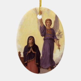 Bouguereau - L'Annonciation Christmas Ornament