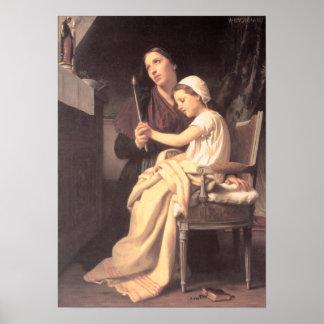 Bouguereau - Le voeu Poster