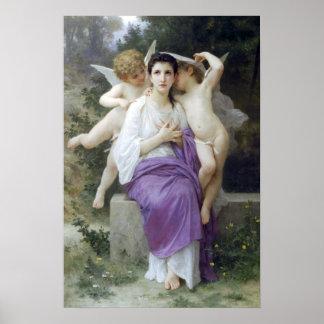 Bouguereau - L'Eveil du Coeur Poster