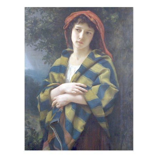 Bouguereau - Pendant l'Orage Postcard