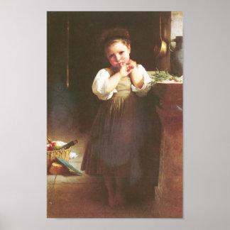 Bouguereau - Petite Boudeuse Print