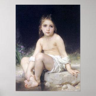 Bouguereau - Petite Fille au Bord l'Eau Poster