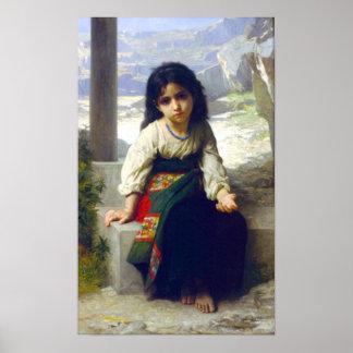 Bouguereau - Petite Mendiante Poster