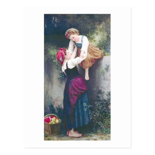 Bouguereau - Petites Maraudeuses Postcard