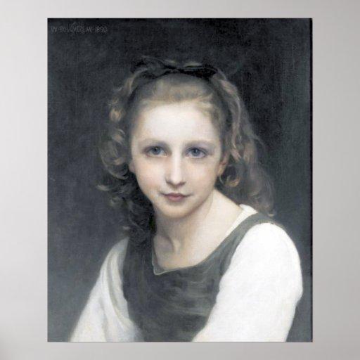 Bouguereau - Portrait d'une Jeune Fille Poster