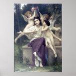 Bouguereau - Reve de Printemps Poster