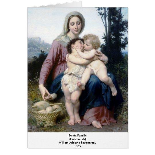 Bouguereau - Sainte Famille Card