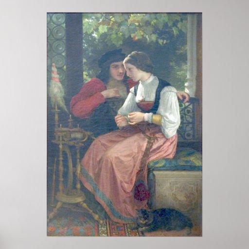 Bouguereau - Seduction Poster