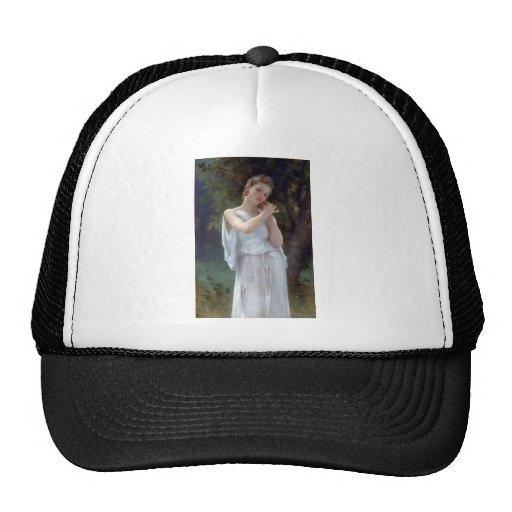 Bouguereau The Earrings Young woman Mesh Hats