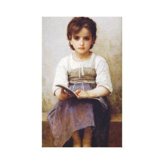 Bouguereau The Hard Lesson Canvas Print