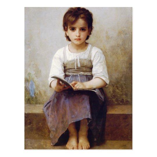 Bouguereau The Hard Lesson Postcard