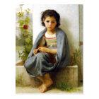 Bouguereau The Little Knitter Postcard