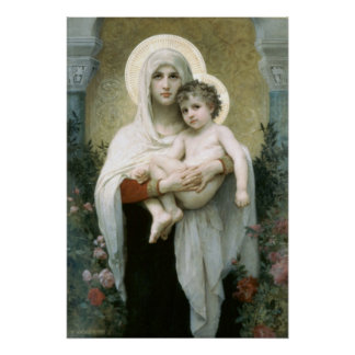 Bouguereau-The Madonna of the Roses lg Poster