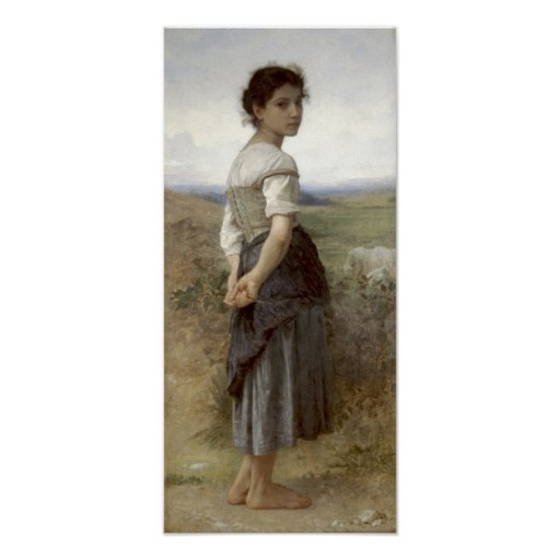 Bouguereau-The Young Shepherdess Poster