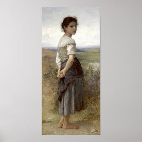 Bouguereau-The Young Shepherdess Poster
