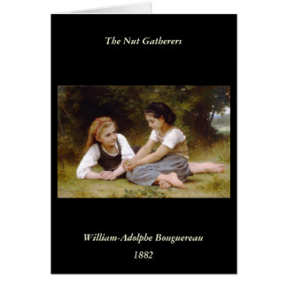 Bouguereau's 1882 The Nut Gatherers  Les noisettes Card