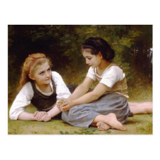 Bouguereau's 1882 The Nut Gatherers  Les noisettes Postcard