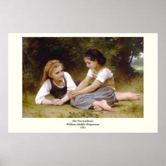 Bouguereau's 1882 The Nut Gatherers  Les noisettes Poster