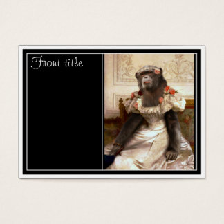 Bouguereau's Chimp Business Card