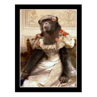 Bouguereau's Chimp Postcard