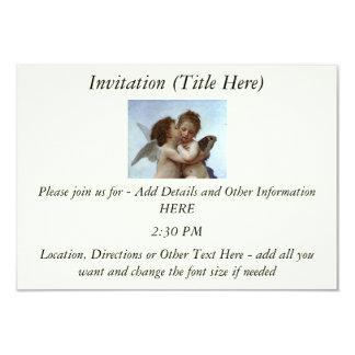 Bouguereau's L'Amour et Psyche, enfants (Cupid) 9 Cm X 13 Cm Invitation Card