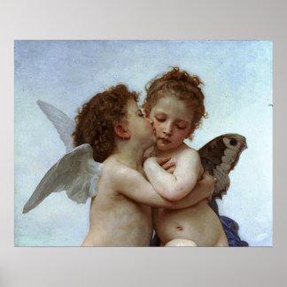 Bouguereau's L'Amour et Psyche, enfants (Cupid) Poster