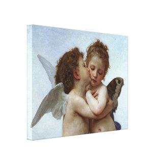 Bouguereau's L'Amour et Psyche, enfants (Cupid) Stretched Canvas Print
