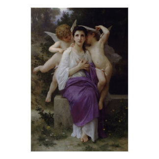 Bouguereau's Painting The Heart's Awakening (1892) Poster