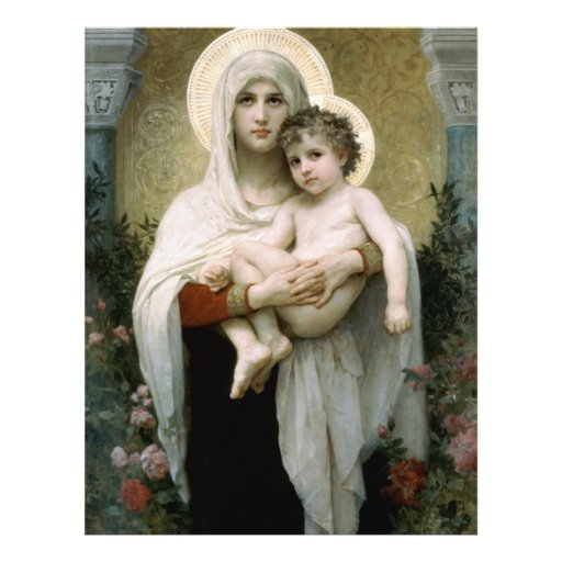 Bouguereau's The Madonna of the Roses (1903) Personalized Flyer