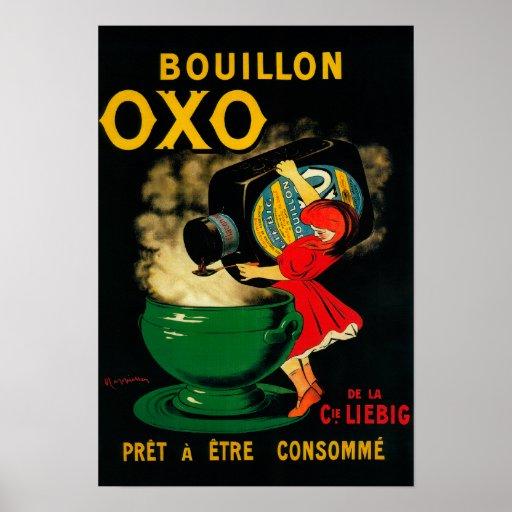 Bouillon OXO Vintage PoseterEurope Poster