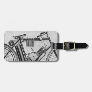 Bouilly Motorcycle, 1895 Luggage Tag