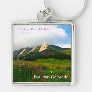 Boulder, Colorado Vintage Style Keychains