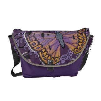 Boulder Copper Butterfly Fractal Messenger Bag