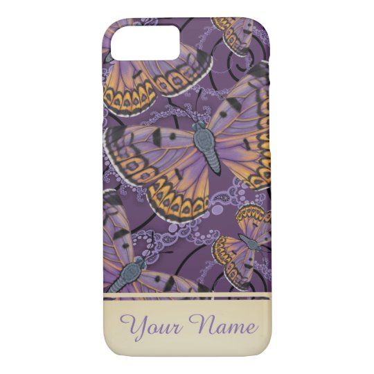 Boulder Copper Butterfly Personalised iPhone 8/7 Case