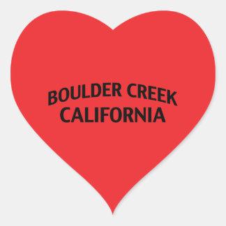 Boulder Creek California Heart Sticker