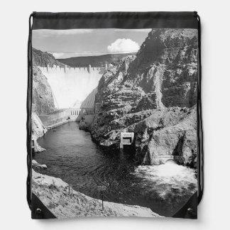 Boulder Dam (aka Hoover Dam) by Ansel Adams Drawstring Backpack