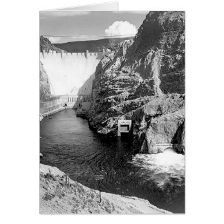 Boulder Dam (aka Hoover Dam) by Ansel Adams Greeting Cards